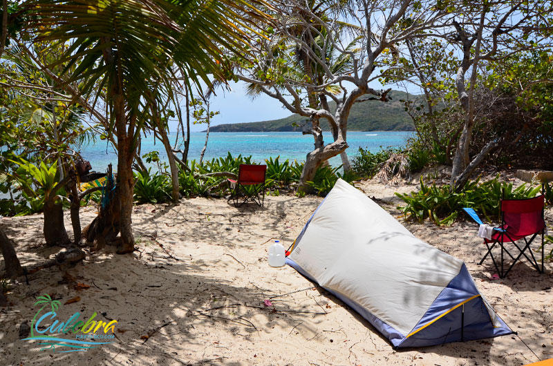 Camping - Flamenco Beach, Culebra, Puerto Rico